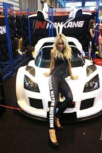 promo girls car shows Autosport NEC